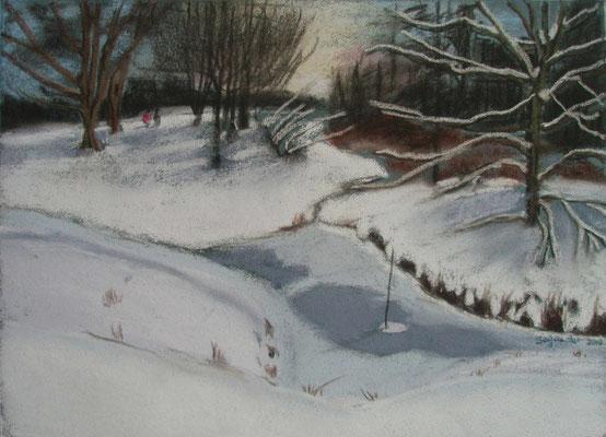 """Bremen -  Dünnes Eis"" - Pastell, 30 x 40, 2010"