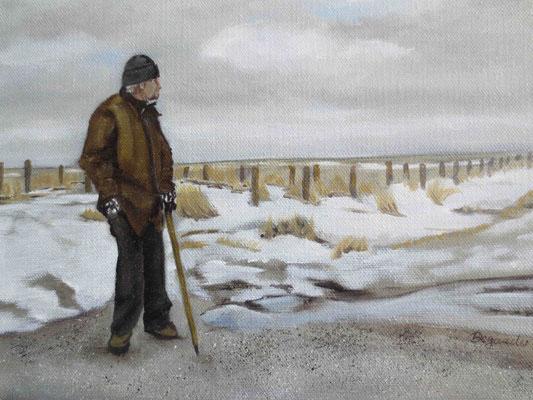 """""""Langeness - Warten auf den Frühling"""" - Öl auf Leinwand, 18 x 24, 2012"""
