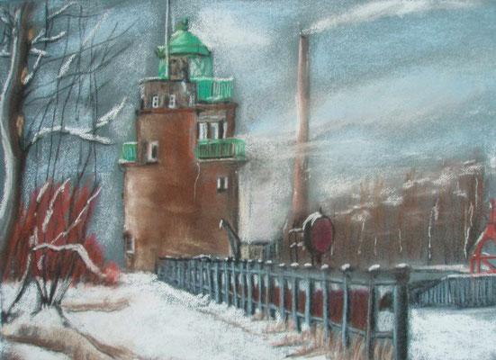 """Bremen - Am Molenturm"" - Pastell, 30 x 40, 2010"