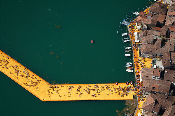 Christo and Jeanne-Claude, The Floating Piers, Lake Iseo, Italy 2014-16
