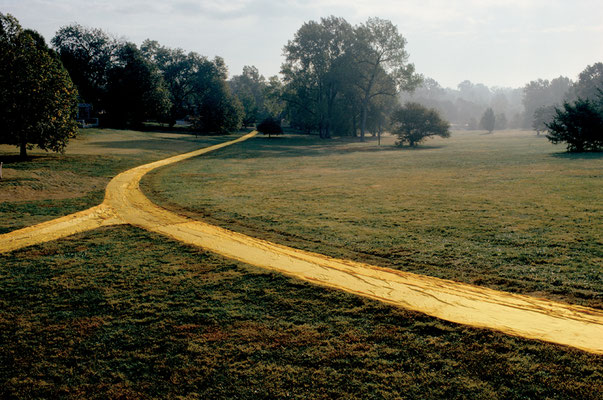 Christo and Jeanne-Claude, Wrapped Walk Ways, Jacob Loose Park, Kansas City, Missouri, 1977-78