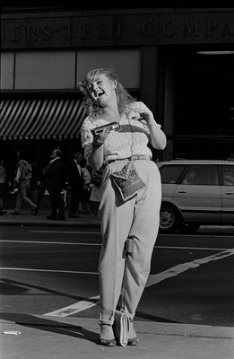 "From the series ""Women on 5th Avenue,"" New York, 1981"