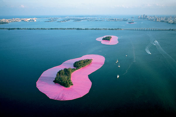 Christo and Jeanne-Claude, Surrounded Islands, Biscayne Bay, Greater Miami, Florida, 1980-83