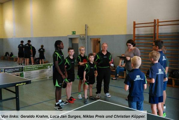 Von links Geraldo Krahm, Luca Jan Surges, Niklas Preis und Christian Küpper.