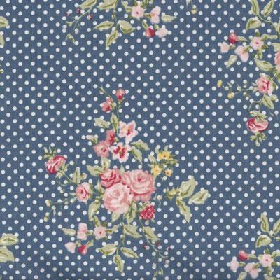 dunkelblau mit rosen