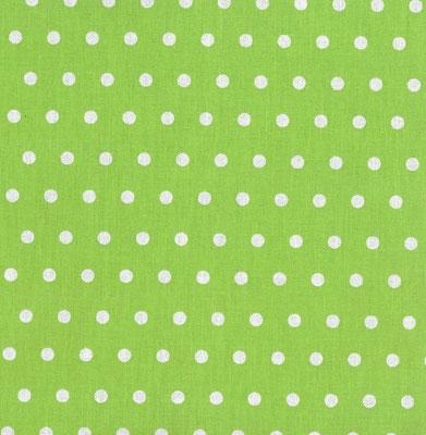 hellgrün mit kleinen punkten