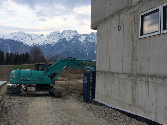 Granatenfund auf der Baustelle