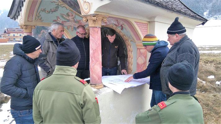 Bauverhandlung Gerätehaus bei der Huisn-Kapelle