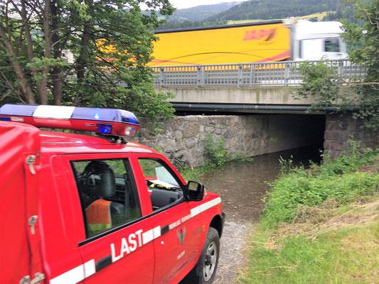 """Hier die Unterführung der Autobahn beim """"Scheiber"""""""