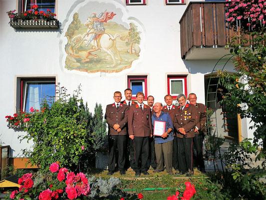 Im Bild von links: Andreas Schwaiger, Armin Kössler, Simon Gatt, Florian Wildauer, Hermann Reichler, Manfred Mähr, Florian Gstreinthaler und Helmut Kohler