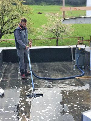 Wassereintritt auf der Baustelle