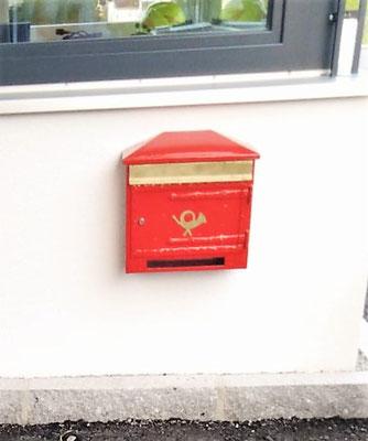 """Der """" Alte Postkasten"""" aus der Herrengasse wurde noch von Reichler Hermann selbst gemacht! Von uns restaurieren lassen und am neuen Gerätehaus angebracht"""