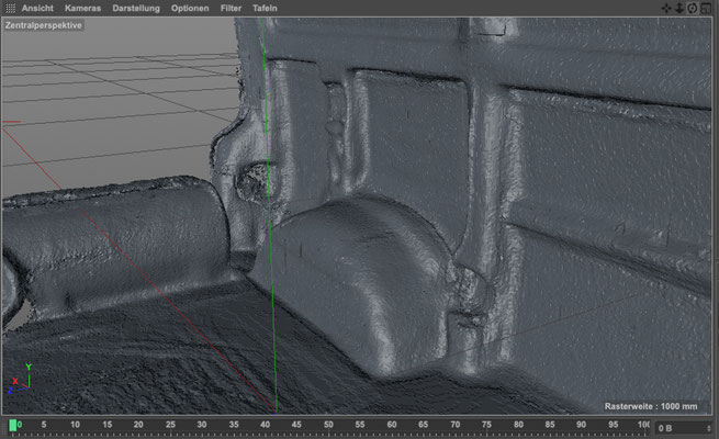 VW T4 LIDAR 3D Scan Laderaum