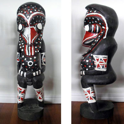 Ambrum Carving | Ambrum Island, Melanesia | Acrylic on Wood | H:700 x W:200 x D:260mm | Price: $650.00