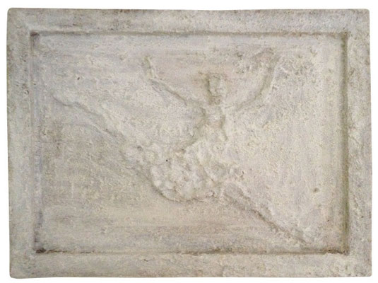 """Artist: Roger Hose   """"Bolshoi V""""   2013   Made from Cedar Saw Dust and White Pigment and Polish   H:455 x W:610mm   Price: $350.00"""