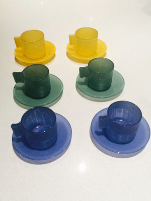 3 Sets of 2 Italian Coffee Cups and Saucers | Price: $20.00 each