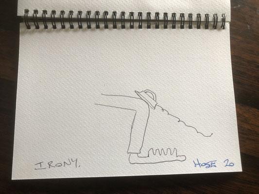 "Artist: Roger Hose | ""Irony"" | 2020 | Price: $50.00"