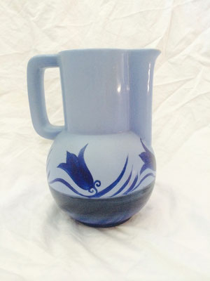 Art Deco Blue Jug  H 200 x D 130 mm $ 85.00