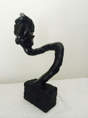 "Artist: Roger Hose | ""Self Portrait I"" (Side View 2) 
