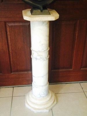 Alabaster pedestal  20 century H 930 x D 320 mm $ 845.00