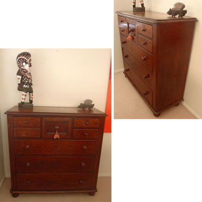 Australian Full Cedar chest of Drawers | Circa 1860 | H:1180 x W:1210 x D:480mm | Price: $2,850.00
