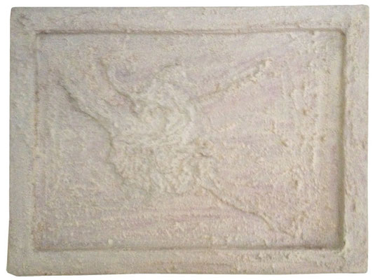 """Artist: Roger Hose   """"Bolshoi IV""""   2013   Made from Cedar Saw Dust and White Pigment and Polish   H:455 x W:615mm   Price: $350.00"""