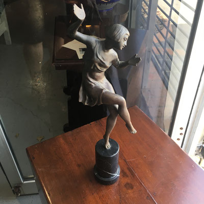 Art Deco style bronze female sculpture. 20 century $ 990.00