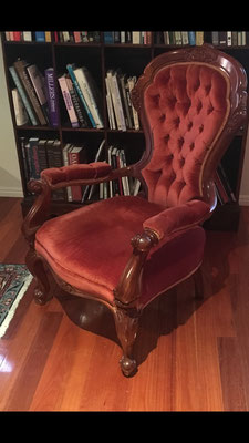 Cedar Library Chair | Signed Alvin Harvey - Queensland Cabinet Maker | Price: $560.00