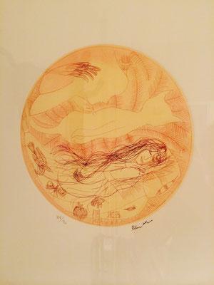 "Artist: Charles Blackman | Australia | ""Sleeping Girl"" | Etching 26/90 signed |  D:240mm | Price: $960.00"