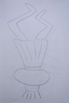 "Artist: Roger Hose | ""Upside Down Grandma in Skirt"" 