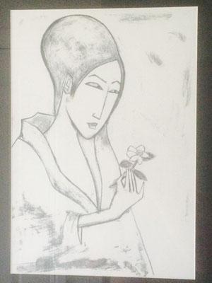 "Artist: Robert Dickerson | ""Yukio"" | Limited Edition Planographic Print | H:410 x W:285mm | Price: $845.00"