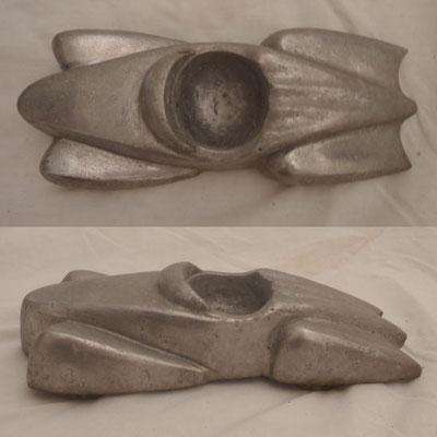 Cast Aluminium Car Ashtray | Mid 20th Century | H:55 x W:230 x D:10mm | Price: $450.00