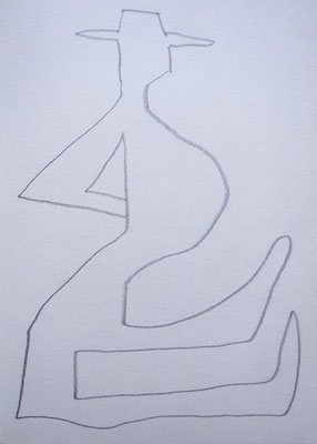 "Artist: Roger Hose | ""Man Looking Memorial"" 