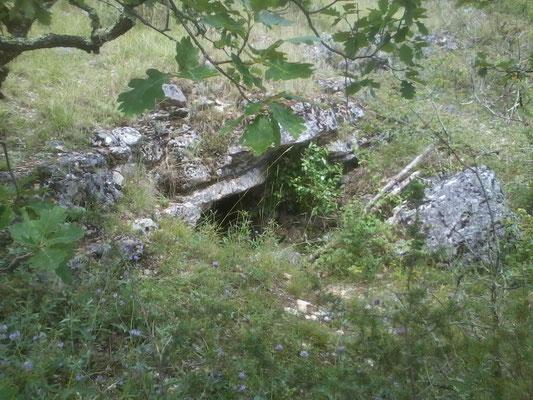 Grotte N° 10 - Pech Redon - Long : 1°21'54.3'' E - Latit :44°26'21.7'' N