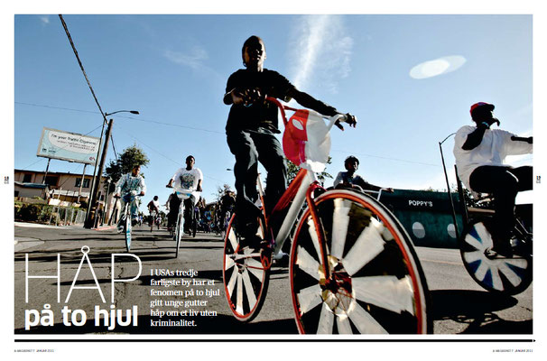 In Oakland a group of young, African-American men are making so-called Scraper Bikes to stay out of trouble.