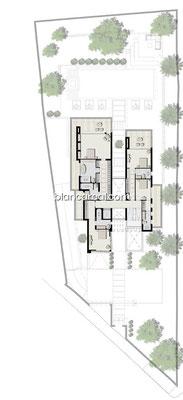 Neubauprojekt Design Villa Marbella Andalusien Costa del Sol Grundriss EG
