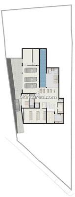 Neubauprojekt Design Villa Marbella Costa del Sol Andalusien Grundriss OG
