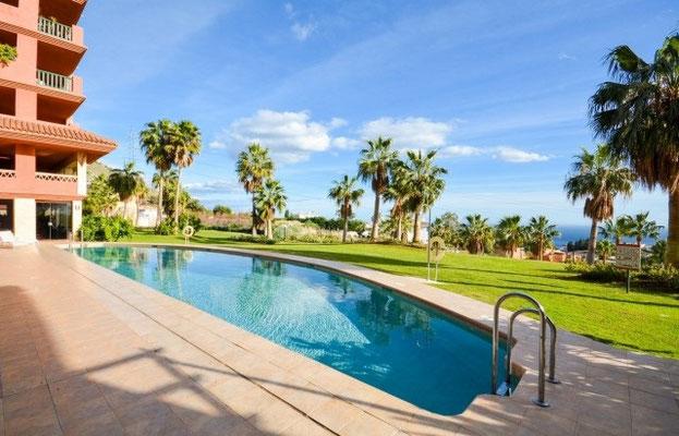 El Higueron Benalmadena Andalusien Garten