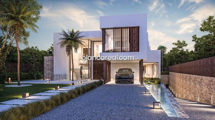 Neubauprojekt Design Villa Marbella Andalusien Eingangsbereich