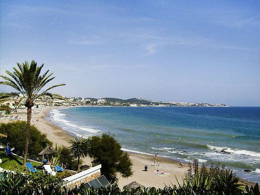 Strand La Calas de Mijas Andalusien Costa del Sol