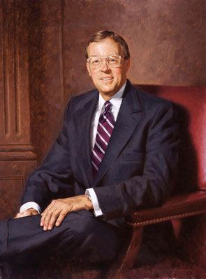 "Dr. Robert Oden, President, Kenyon College, Gambier, Ohio - oil on linen, 36""x28"""