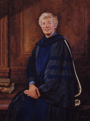 "Mary Patterson McPherson, President, Bryn Mawr College - oil on linen 48""x36"""