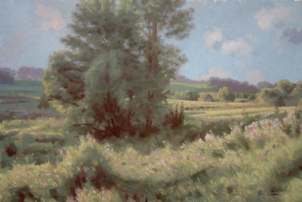 Chester county landscape - oil painting by Peter Schaumann