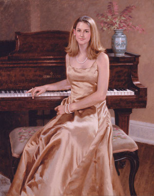 Corinne (portrait in oil by Peter Schaumann)