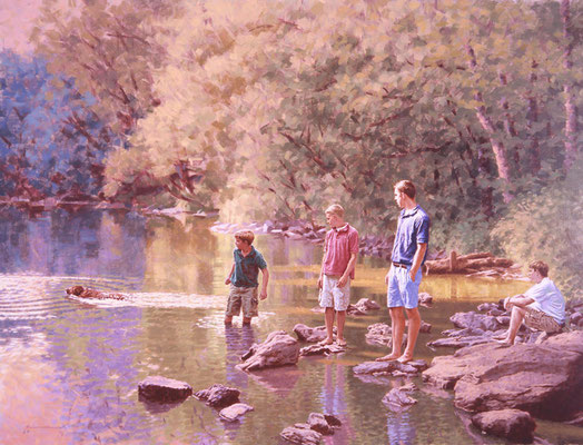 On the Wissahickon (portrait in oil by Peter Schaumann)