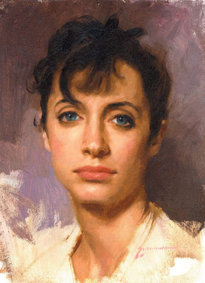 Clare (portrait in oil by Peter Schaumann)