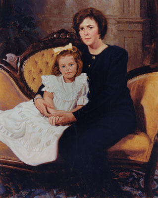 Ellen and Hunter (portrait in oil by Peter Schaumann)