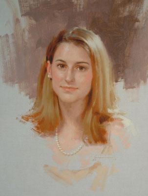 Corinne (portrait in oil by Peter Schaumann)