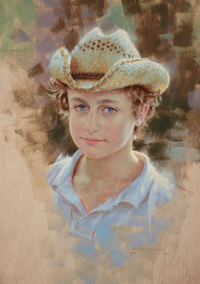 Will age 12 (portrait in oil by Peter Schaumann)