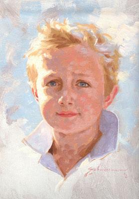 William (portrait in oil by Peter Schaumann)